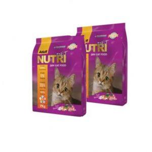 غذای خشک گربه نوتری پت مدل Adult مقدار 7 کیلوگرم تعداد 2 بسته
