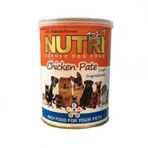 کنسرو غذای سگ نوتری پت مدل Chicken Pate وزن 425 گرم