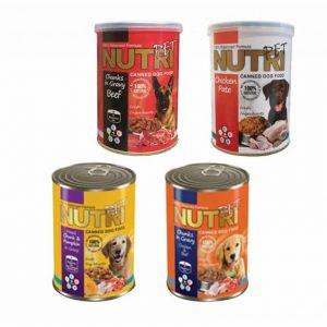 کنسرو سگ نوتری پت در 4 طعم مختلف بسته 4عددی