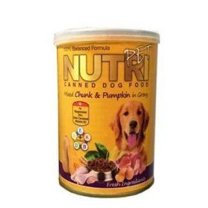 کنسرو غذای سگ نوتری پت مدل Chunk & Pumpkin وزن 425 گرم