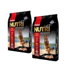 غذای خشک سگ نوتری پت مدل Premium %29 وزن 15 کیلوگرم بسته دو عددی