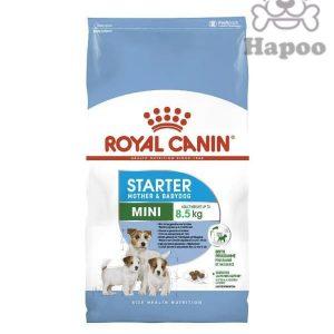 غذای خشک سگ رویال کنین مدل mini starterوزن 8.5کیلو گرم