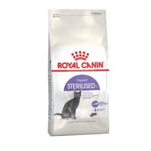 غذای خشک گربه رویال کنین مدل STERILISED وزن 2 کیلوگرم
